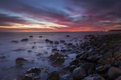 Maspalomas rocky shore. Rocky shore of Maspalomas - Canary Islands at twilight Stock Photo