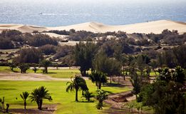 Maspalomas sand dunes Stock Photography