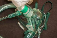 Masque à oxygène médical Photographie stock libre de droits