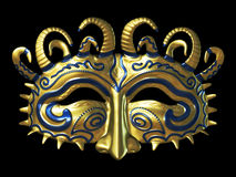 masque золота фантазии Стоковые Изображения RF