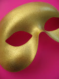 Masque 1 d'or Photo libre de droits