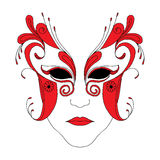 Masque stock illustrationer