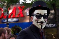 Masque anonyme. Images libres de droits