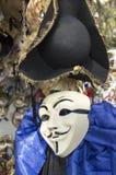 Masque anonyme de carnaval de Venise images libres de droits