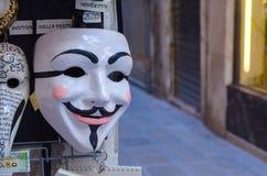 Masque anonyme de carnaval de Venise photographie stock libre de droits