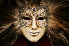 Masque argenté luxueux Photos libres de droits