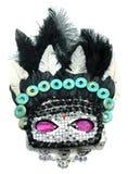 Masque avec des perles et des bijoux de pierre gemme Image libre de droits