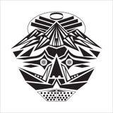 Masque avec une forme de base, et dedans noir et blanc illustration de vecteur