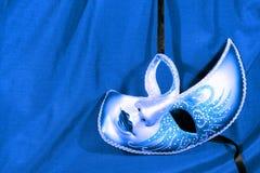 Masque bleu de carnaval Image libre de droits
