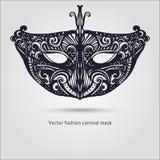 Masque carnaval de belle mode Vecteur tiré par la main Images libres de droits