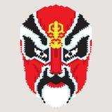 Masque chinois géométrique Photographie stock libre de droits