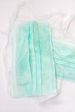 Masque chirurgical vert Images libres de droits