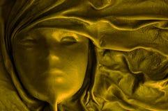 Masque d'or Photographie stock libre de droits