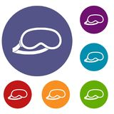 Masque d'oeil protecteur pour des icônes de sommeil réglées Photos stock