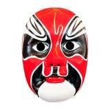 Masque d'opéra de chinois traditionnel d'isolement sur le blanc Photo libre de droits