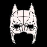 Masque de Batman, triangles noires et blanches de symbole Photo stock