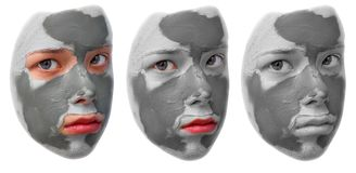 Masque de beauté Photographie stock libre de droits