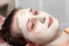 Masque de beauté d'argile Images libres de droits
