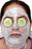 Masque de beauté verte Photos libres de droits