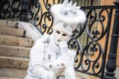 Masque de blanc de Venise Image libre de droits