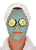 Masque de boue de concombre de station thermale Image stock