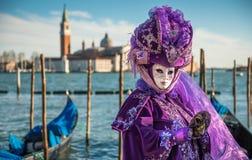 Masque de carnaval à Venise Photos stock