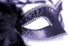 Masque de carnaval d'isolement sur le blanc Images libres de droits