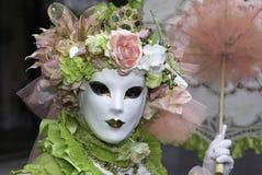 Masque de carnaval dans Venezia Photographie stock