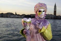 Masque de carnaval dans Venezia Image stock