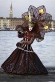 Masque de carnaval dans Venezia Image libre de droits