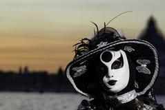 Masque de carnaval dans Venezia Photos libres de droits