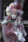 Masque de carnaval dans Venezia Images libres de droits