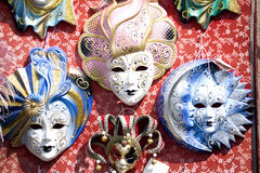 Masque de carnaval de Thee à Venise Photographie stock libre de droits