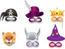 Masque de carnaval, masque de purim. illustration stock