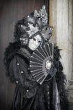 Masque de Carneval à Venise - costume vénitien Photo stock