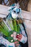 Masque de Carneval à Venise - costume vénitien Photographie stock libre de droits