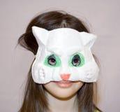 Masque de chat d'enfant Photos libres de droits