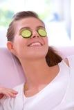 Masque de concombre Photos libres de droits