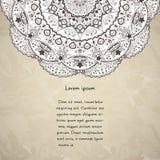 Masque de coupure de fond de mandala de fleur utilisé Image libre de droits