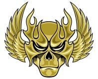 Masque de crâne avec des ailes illustration stock