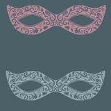 Masque de dentelle de mascarade de fête Tiré par la main sensible Illustration Libre de Droits