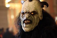 Masque de diable de Perchtenlauf, Graz Photographie stock