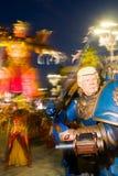 Masque de Donald Trump au carnaval du viareggio image stock
