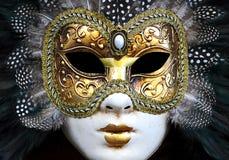 Masque de femme de Venezia image libre de droits