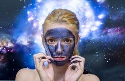 Masque de galaxie photos libres de droits