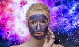 Masque de galaxie images libres de droits