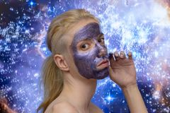 Masque de galaxie images stock