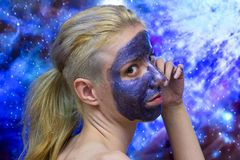 Masque de galaxie image stock
