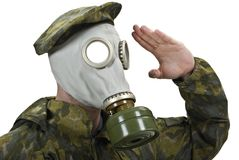 Masque de gaz Images stock