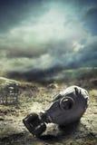Masque de gaz dans la guerre quemical Image stock